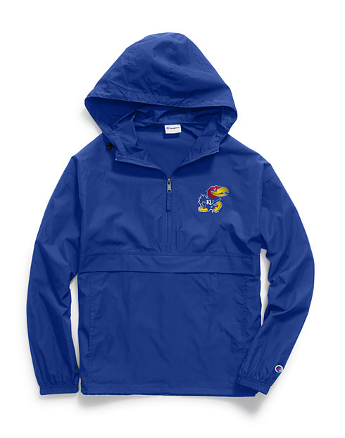 Champion Collegiate Packable Jacket, Kansas Jayhawks