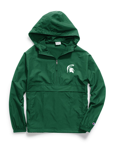 2bfe57ceda546 Champion Collegiate Packable Jacket, Michigan State Spartans
