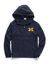Champion Collegiate Packable Jacket, Michigan Wolverines