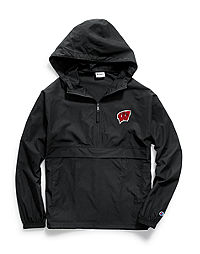 Champion Collegiate Packable Jacket, Wisconsin Badgers