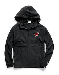 Champion Collegiate Packable Jacket, Wisconsin Badgers