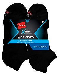 Hanes Men's FreshIQ™ X-Temp® Comfort Cool No Show Socks 6-Pack