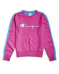 Champion Europe Premium Women's Reverse Weave® Two-Tone Crew, Script Logo