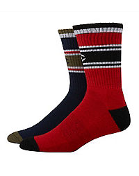 Champion Men's Performance Crew Socks, C Logo, 2-pack