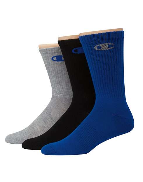 Champion Men's Performance Crew Socks 3-Pack