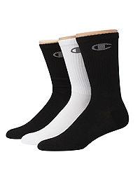 Champion Men's Performance Crew Socks 3-Pack