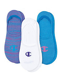 Champion Women's Performance Invisible Liner Socks, 3-Pack