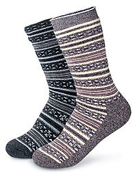 Champion Women's Full Cushion Fair Isle Outdoor Crew Socks 2-Pack