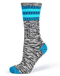 Champion Women's Lightweight Outdoor Rugby Stripe Crew Socks 2-Pack