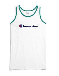 Champion Life® Men's Big & Tall Ringer Tank, Script Logo