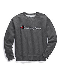 Champion Big & Tall Men's Powerblend®  Fleece Crew, Felt & Chainstitch Logo
