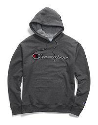 Champion Big & Tall Men's Powerblend® Fleece Hood, Felt & Chainstitch Logo