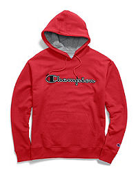 Champion Big & Tall Men's Powerblend® Fleece Hood, Felt & Chainstitch Logo