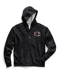 Champion Big & Tall Powerblend® Fleece Zip Hood, Felt & Chainstitch Logo