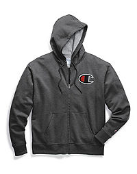 Champion Big & Tall Powerblend® Fleece Zip Hood, Felt & Chainstitch Logo