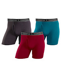 Champion Performance Cotton Regular Boxer Brief 3-Pack
