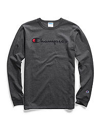 6ac15ace2 Champion Life® Men's Big & Tall Long-Sleeve Tee, Script Logo