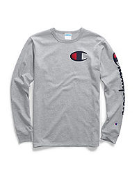 00c5126b Champion Life® Men's Big & Tall Long-Sleeve Tee, Big C & Script. NEW