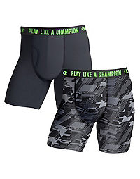 Champion Men's Ultra Lightweight Regular Leg Boxer Brief 2-Pack