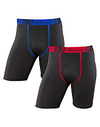 Champion Men's Tech Performance Long Leg Boxer Brief 2-Pack