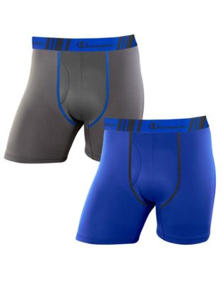 Champion Men's Tech Performance Regular Leg Boxer Brief 2-Pack