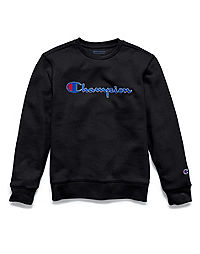 Champion Girls' Heritage Script Crew Sweatshirt