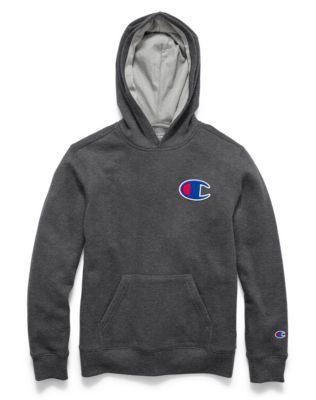 Champion Boys' Heritage Pullover Hoodie, C Logo