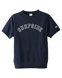Champion Japan Premium Men's Campus Short-Sleeve Crew, Surfside