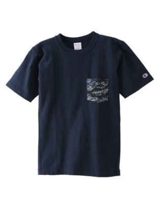 Champion Japan Premium Men's Reverse Weave™ Tee, Camo Pocket