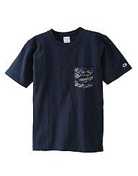 Champion Japan Premium Men's Reverse Weave™ Tee, Camo Pocket