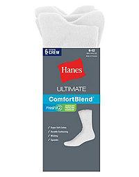 Hanes Classics Men's Crew Socks 6-Pack