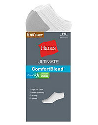 Hanes Classics Men's Extra Low-Cut Sock 6-Pack