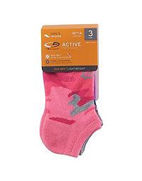 C9 Champion® Girls' No-Show Socks 3-Pack
