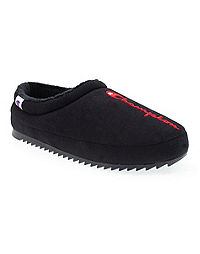 Champion Life™ Men's Shuffle Slippers, Black/Scarlet