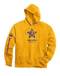 Exclusive Champion Men's NBA 2K Los Angeles Lakers Gaming Pullover Hoodie