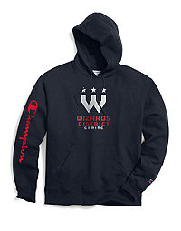 Exclusive Champion Men's NBA 2K Washington T-Wizards District Gaming Pullover Hoodie