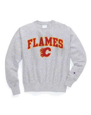 Exclusive Champion Life® Men's Reverse Weave® NHL Crew, Calgary Flames Vintage Marks Series 1980-81