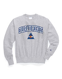 Exclusive Champion Life® Men's Reverse Weave® NHL Crew, Colorado Rockies Vintage Marks Series 1976-77