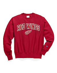 Exclusive Champion Life® Men's Reverse Weave® NHL Crew, Detroit Red Wings