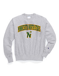 Exclusive Champion Life® Men's Reverse Weave® NHL Crew, Minnesota North Stars Vintage Marks Series 1967-68