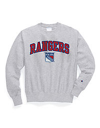 Exclusive Champion Life® Men's Reverse Weave® NHL Crew, New York Rangers Vintage Marks Series 1976-77