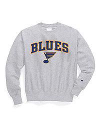 Exclusive Champion Life® Men's Reverse Weave® NHL Crew, St Louis Blues Vintage Marks Series 1970