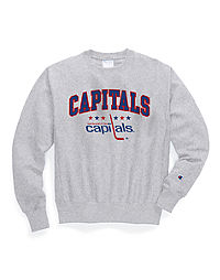 Exclusive Champion Life® Men's Reverse Weave® NHL Crew, Washington Capitals Vintage Marks Series 1975-76