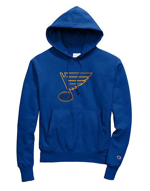 8b20da4787 Exclusive Champion Life® Men's Reverse Weave® NHL Hoodie, St Louis Blues  Vintage Marks Series 1970