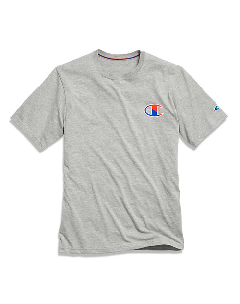 Champion Men's Sleep Tee, Oxford Grey Heather