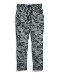 Champion Men's Sleep Pants, Camo Grey/Black