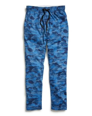 Champion Men's Sleep Pants, Camo Blue/Black