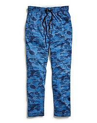 Champion Men's Sleep Pants, Camo Blue/Black