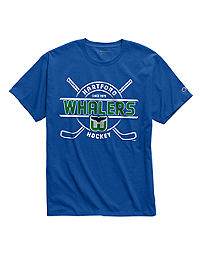 Exclusive Champion Men's NHL Tee, Hartford Whalers Vintage Marks Series 1979