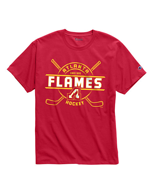 Exclusive Champion Men's NHL Tee, Atlanta Flames Vintage Marks Series 1972-73